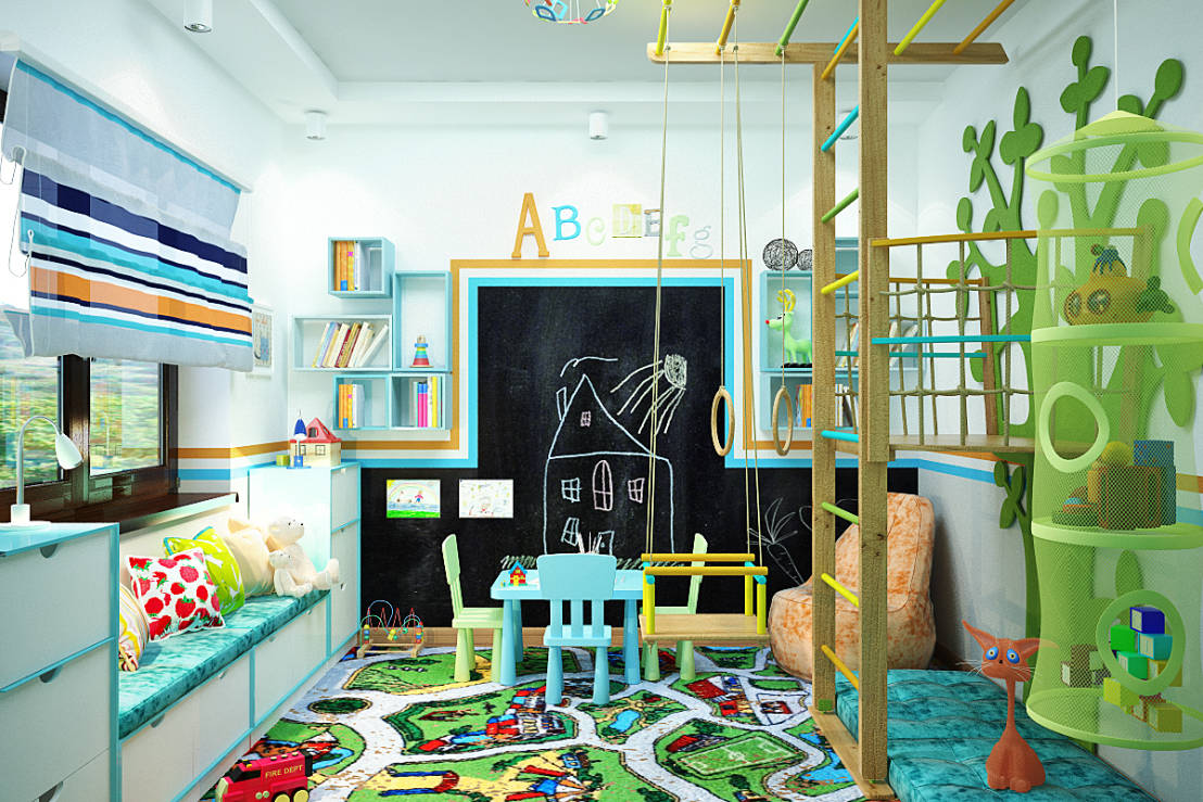 6 interactive bedroom designs for your kid for Interactive bedroom design