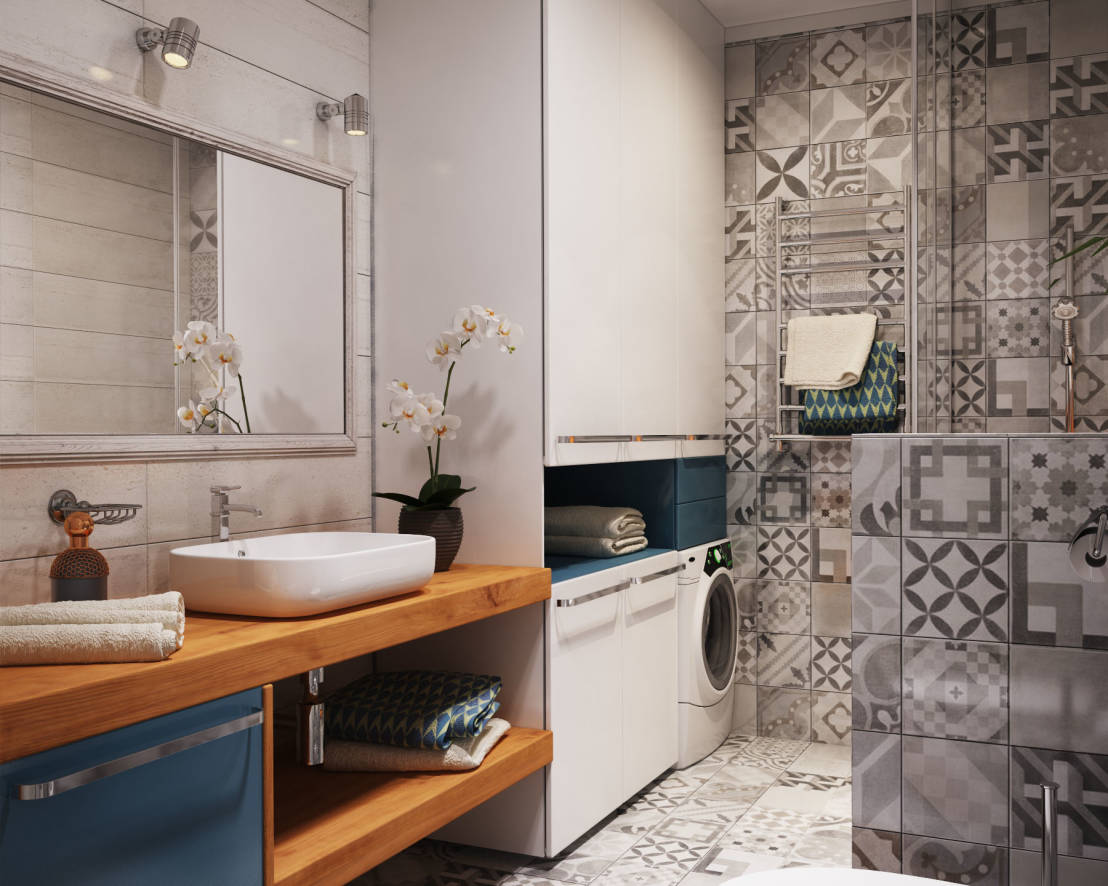 Lavadora En Un Baño Pequeno Es Posible:Small Laundry Room Bathroom Combo Floor Plans