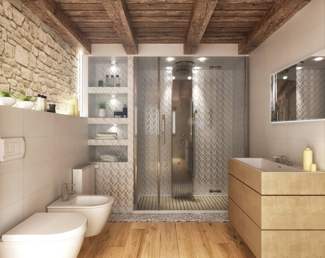 Iluminacion Baño Moderno:Small Bathroom Storage Solutions
