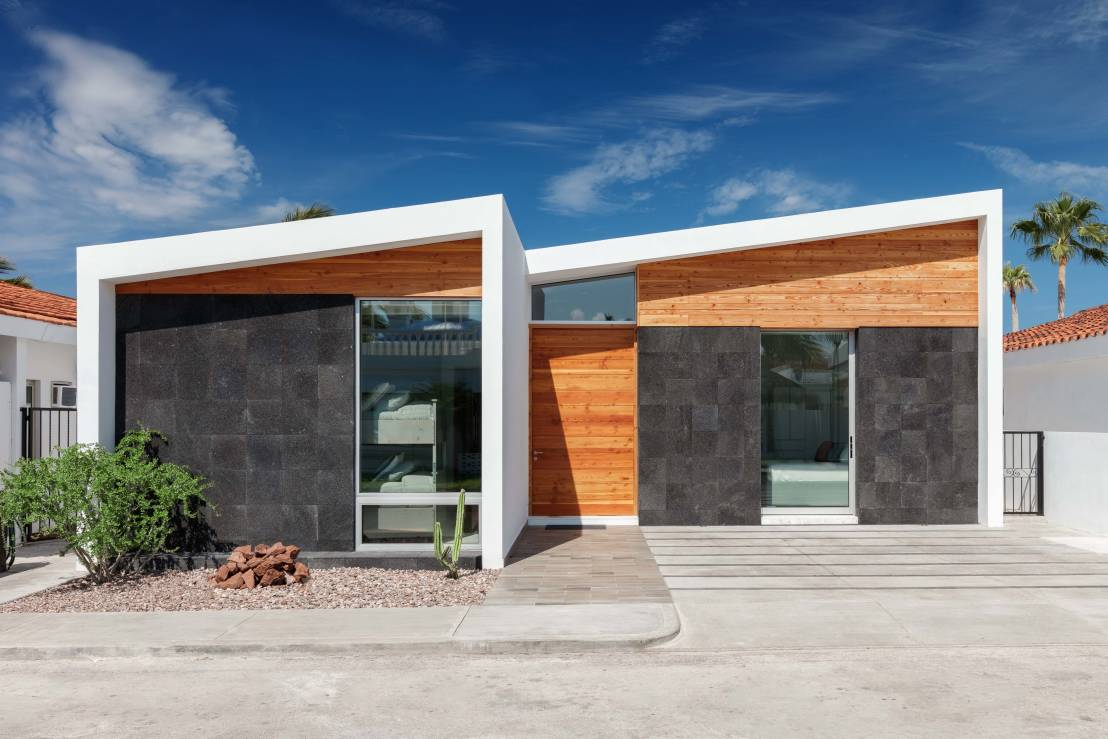 Casas peque as 6 fachadas por arquitectos mexicanos for Disenos de casas contemporaneas pequenas