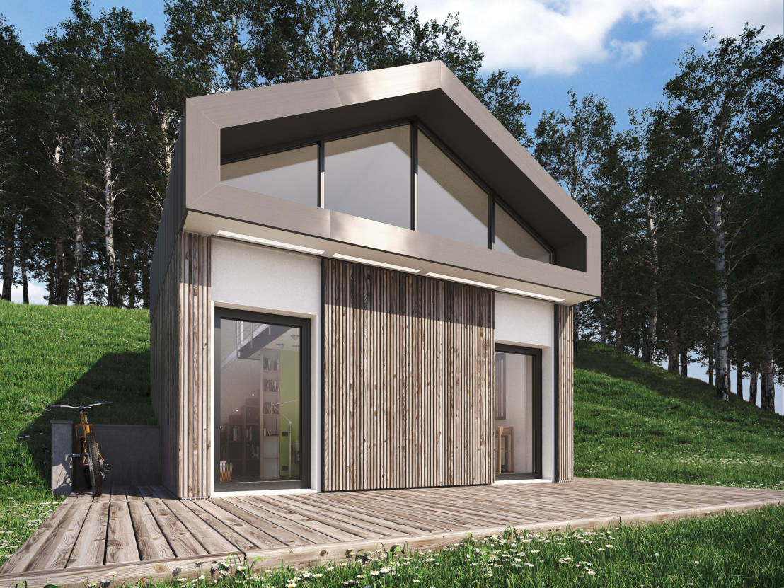 Gro artiges minihaus for Foto case moderne