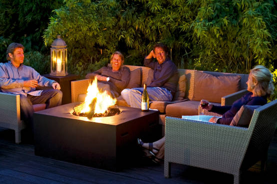 gasfeuer f r garten und terrasse von kaminwunder eurolux gmbh homify. Black Bedroom Furniture Sets. Home Design Ideas