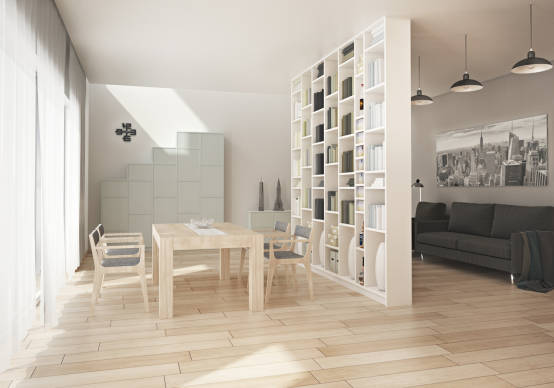 raumteiler raumtrenner aus wei lackiertem holz nach ma. Black Bedroom Furniture Sets. Home Design Ideas