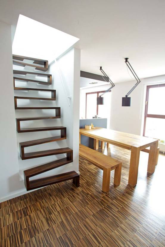top 6 las mejores escaleras para espacios peque os. Black Bedroom Furniture Sets. Home Design Ideas