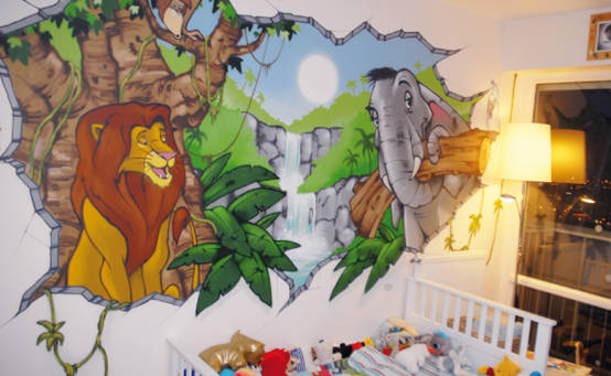 décoration chambre theme jungle