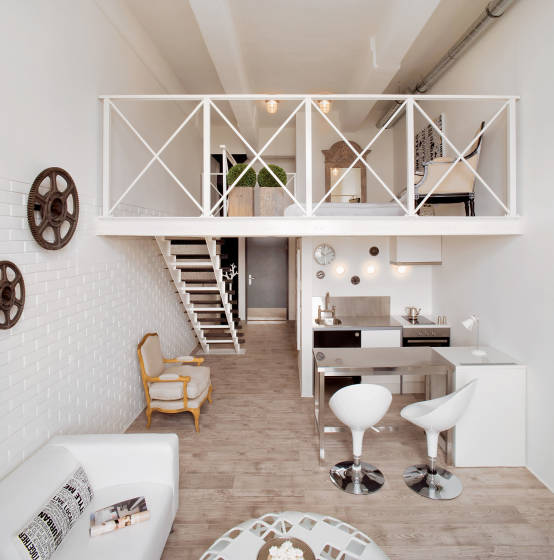 Corridors, halls and modern stairs by justyna Smolec architektura & design