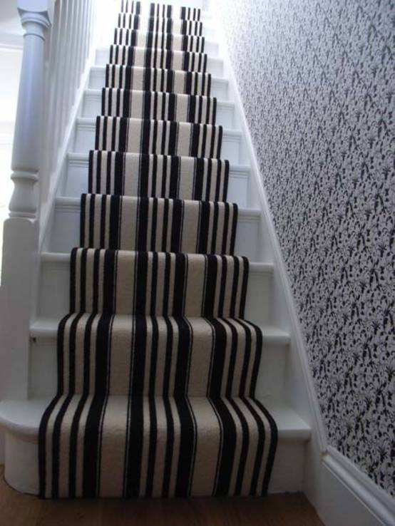 Grey And White Striped Carpets Carpet Vidalondon