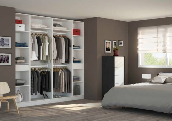 placard dressing dans une chambre d 39 adulte par centimetre. Black Bedroom Furniture Sets. Home Design Ideas