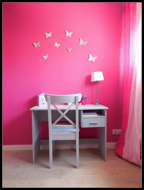 Stickers chambre fille 8 ans for Chambre fushia orange