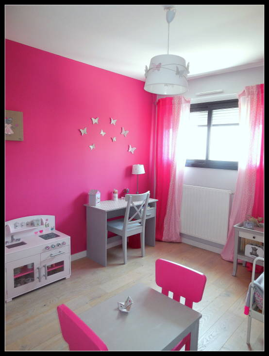 chambre d 39 enfant fushia et grise par sc nes d 39 int rieur homify. Black Bedroom Furniture Sets. Home Design Ideas