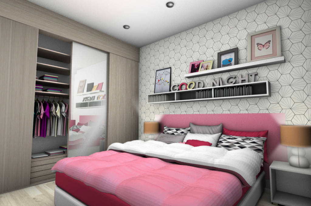 photos de chambre d enfant de style moderne chambre adolescente 1 sur homify. Black Bedroom Furniture Sets. Home Design Ideas