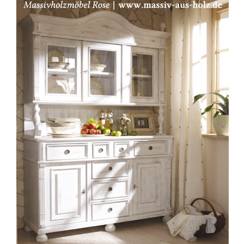 buffet im landhausstil alt wei shabby chic. Black Bedroom Furniture Sets. Home Design Ideas