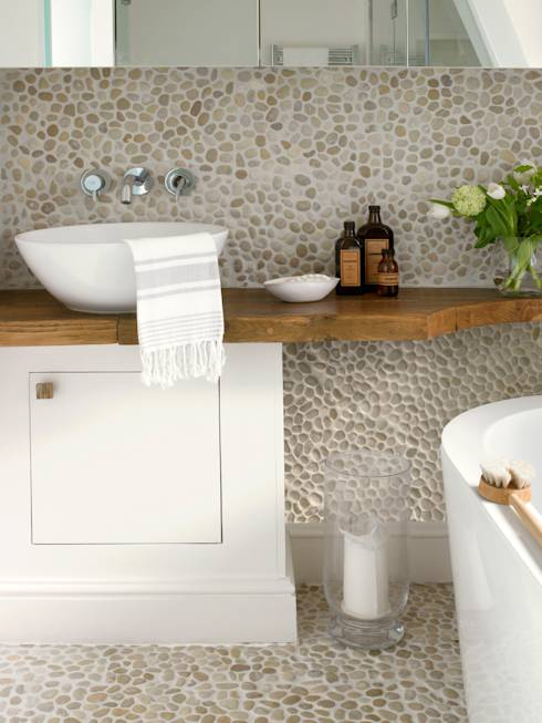 Feng Shui Baño Sobre Cocina:Earth Tone Bathroom Floor Tile