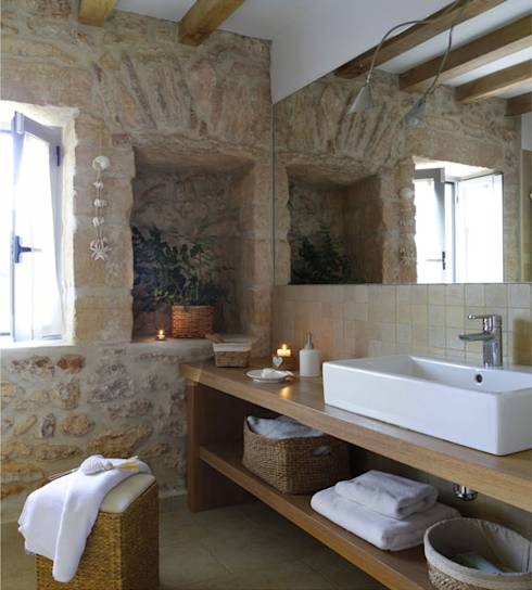 Baños Estilo Natural:Rustic Style Bathroom