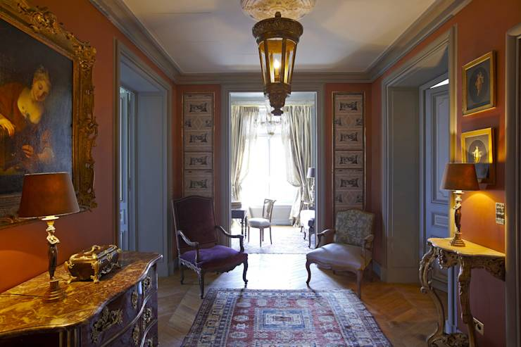appartement parisien digne de la royaut. Black Bedroom Furniture Sets. Home Design Ideas