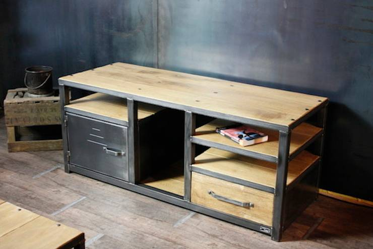 Nos meubles tv de style industriel par micheli design homify - Meuble metal industriel loft ...