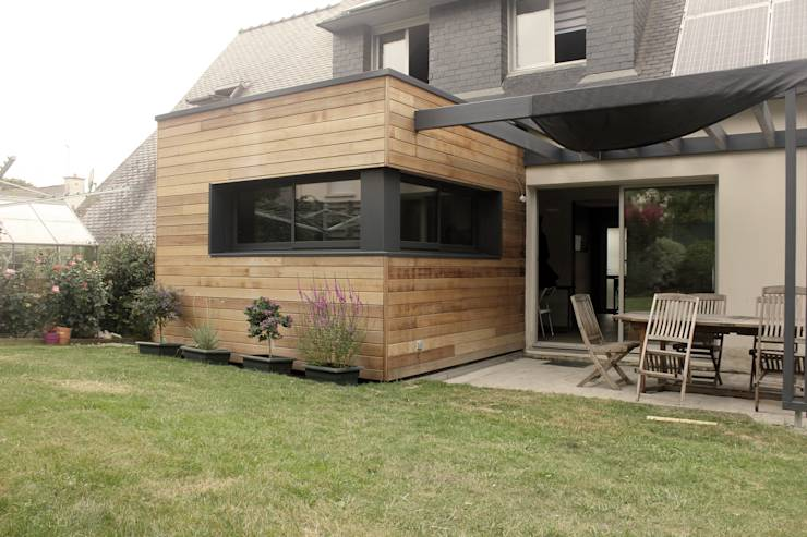10 incroyables extensions de maison en bois for Cube extension maison