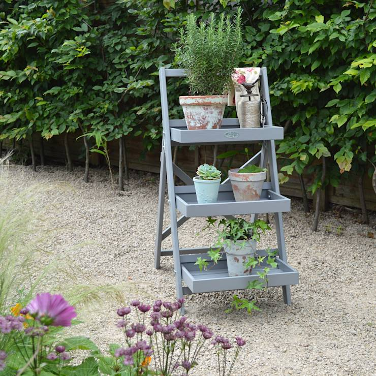 Plant Stand- Grey: Country Garden  by MiaFleur