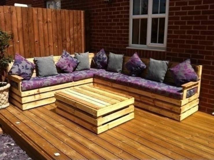 Garden corner unit : Eclectic Garden  by Pallet furniture uk