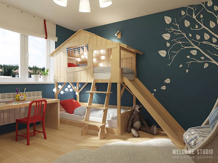 wie kann ich ein kreatives kinderzimmer einrichten. Black Bedroom Furniture Sets. Home Design Ideas