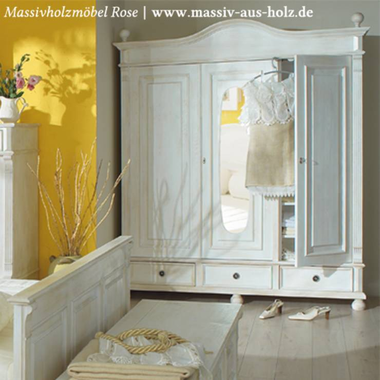 kleiderschrank im landhausstil massivholz von massivholzm bel rose homify. Black Bedroom Furniture Sets. Home Design Ideas