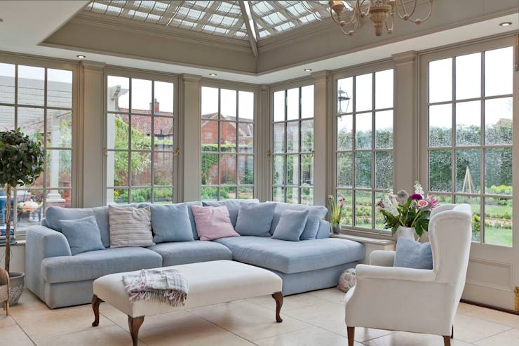 A Living Room Conservatory Di Vale Garden Houses Homify