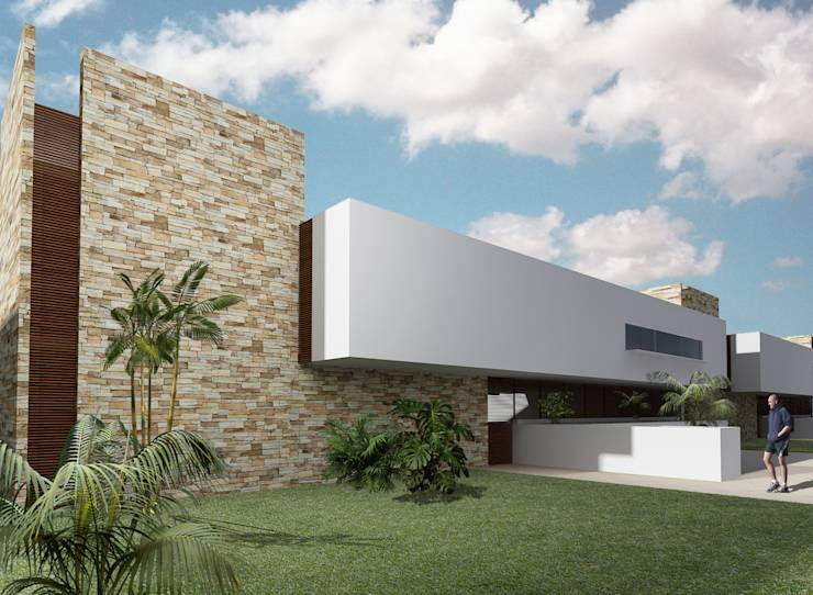 20 facades in 3d that will inspire you to design your home for Construccion arquitectura