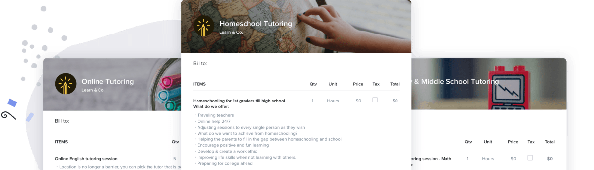 The Best Free Invoice Templates for Tutors