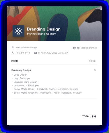 Branding Design Invoice