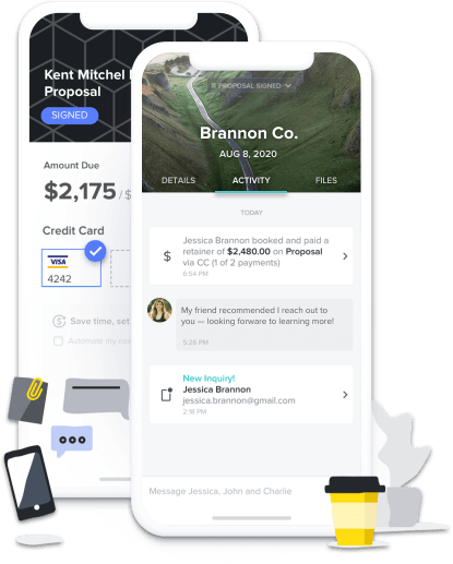 Manage inquiries and projects on-the-go