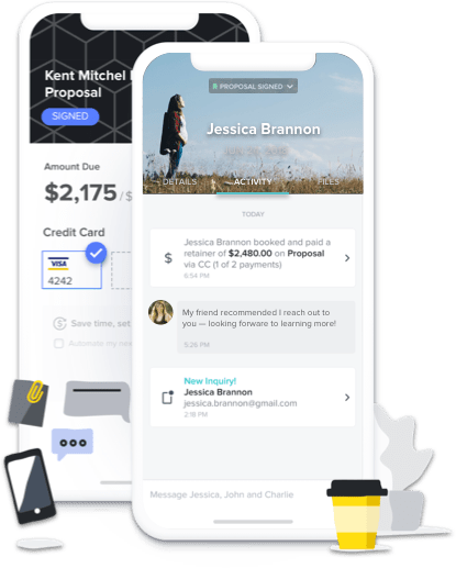 Manage inquiries and relationships on-the-go