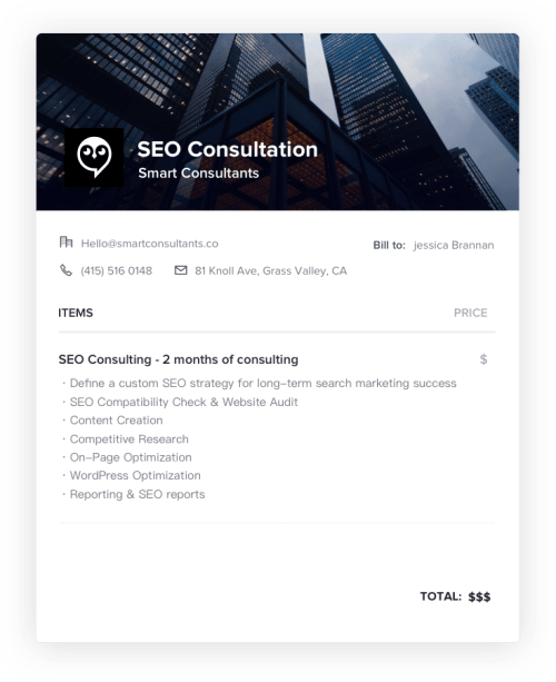 SEO Consulting Invoice