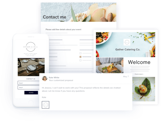 Showcase your catering services with flexible templates