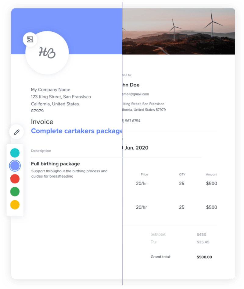 Free HoneyBook Invoice Templates