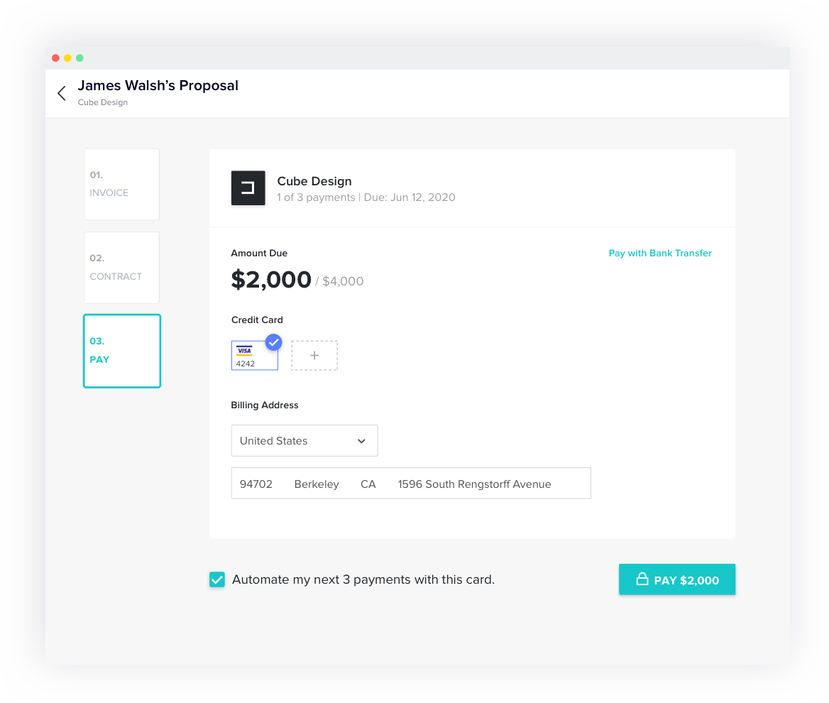 A frictionless payment experience