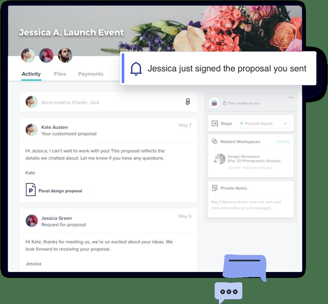 Florist client communication