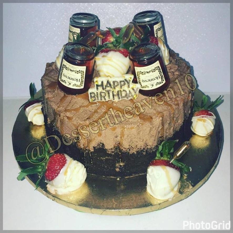 Astonishing My Sisters Hennessy Birthday Cake Honeybook Funny Birthday Cards Online Alyptdamsfinfo