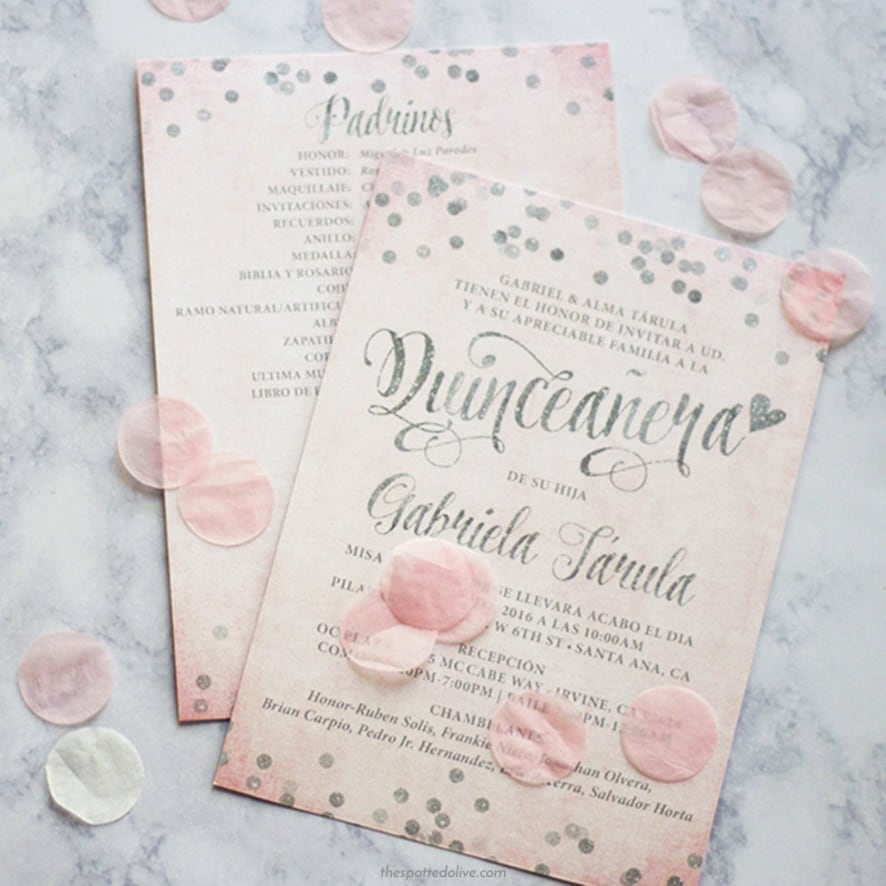 pink silver quinceanera invitations honeybook