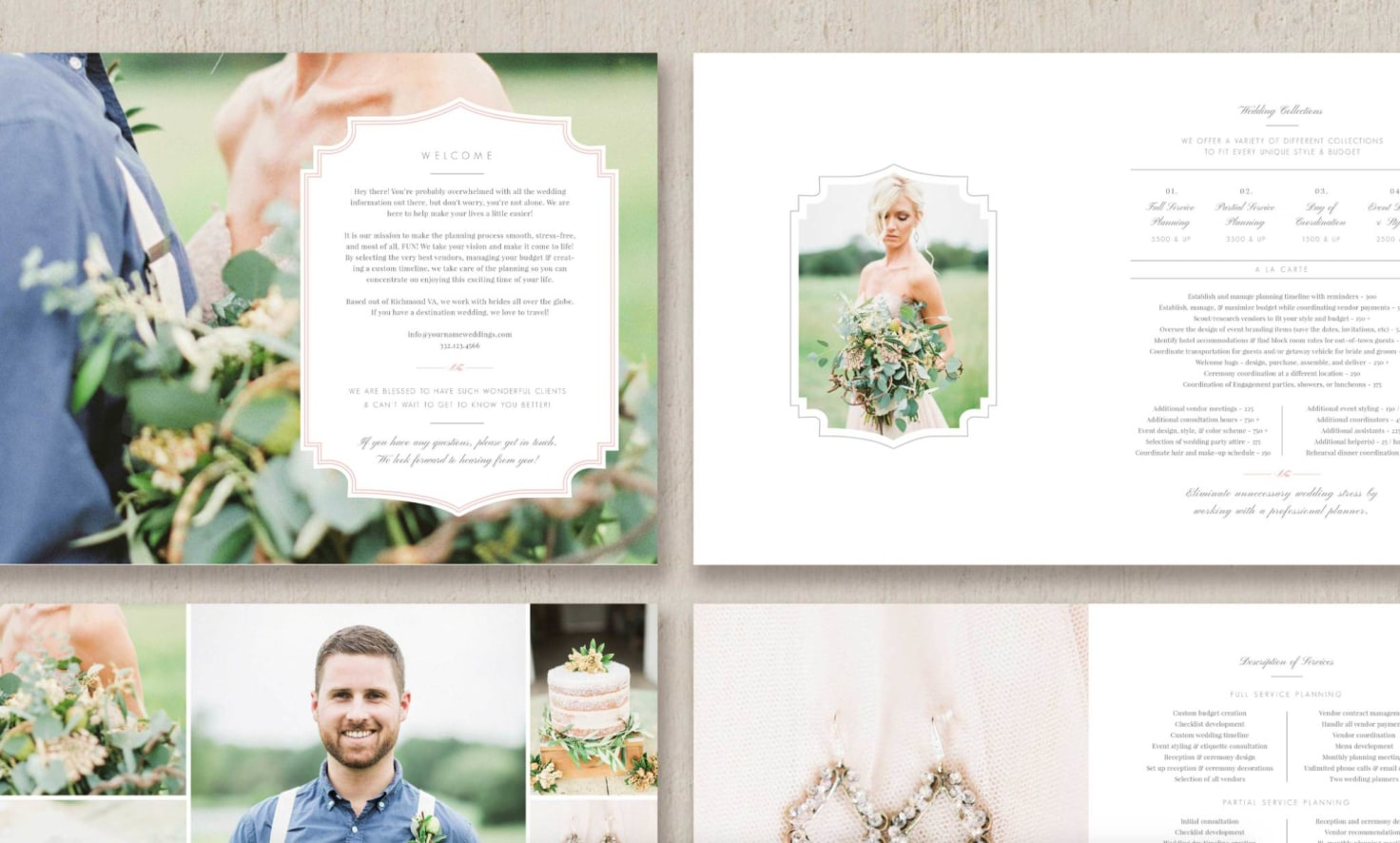 Wedding Photography Welcome Packet: Wedding Planner Magazine Template