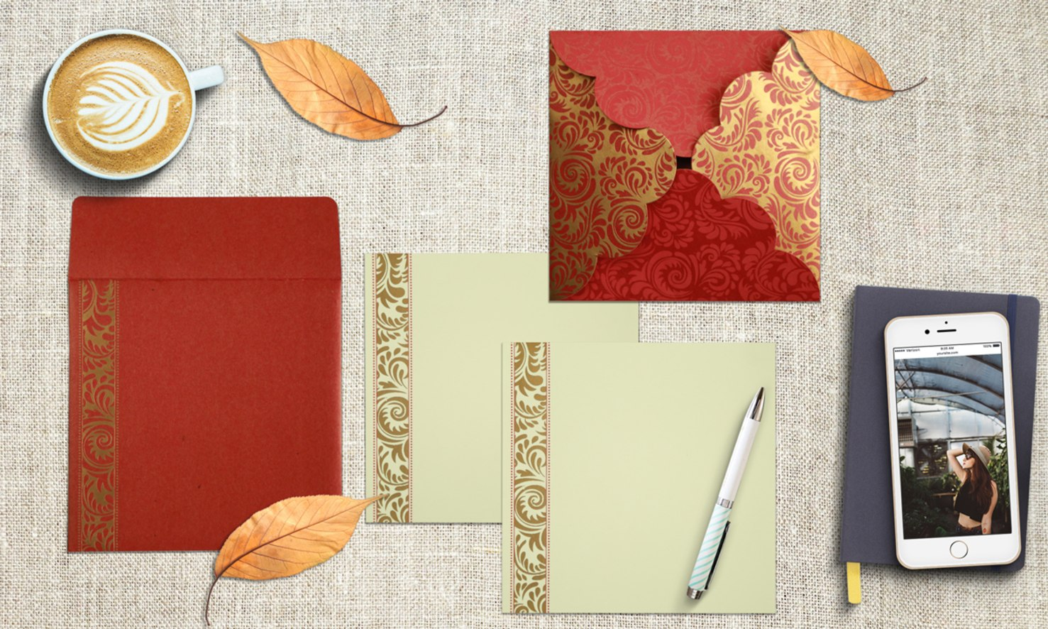 Red Shimmery Floral Themed Invitations Honeybook