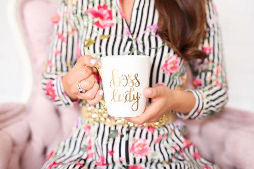 gold coffee mug boss lady