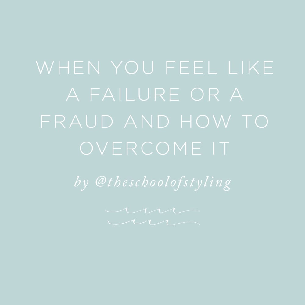 When You Feel Like a Failure or a Fraud and How to Overcome It | via the Rising Tide Society