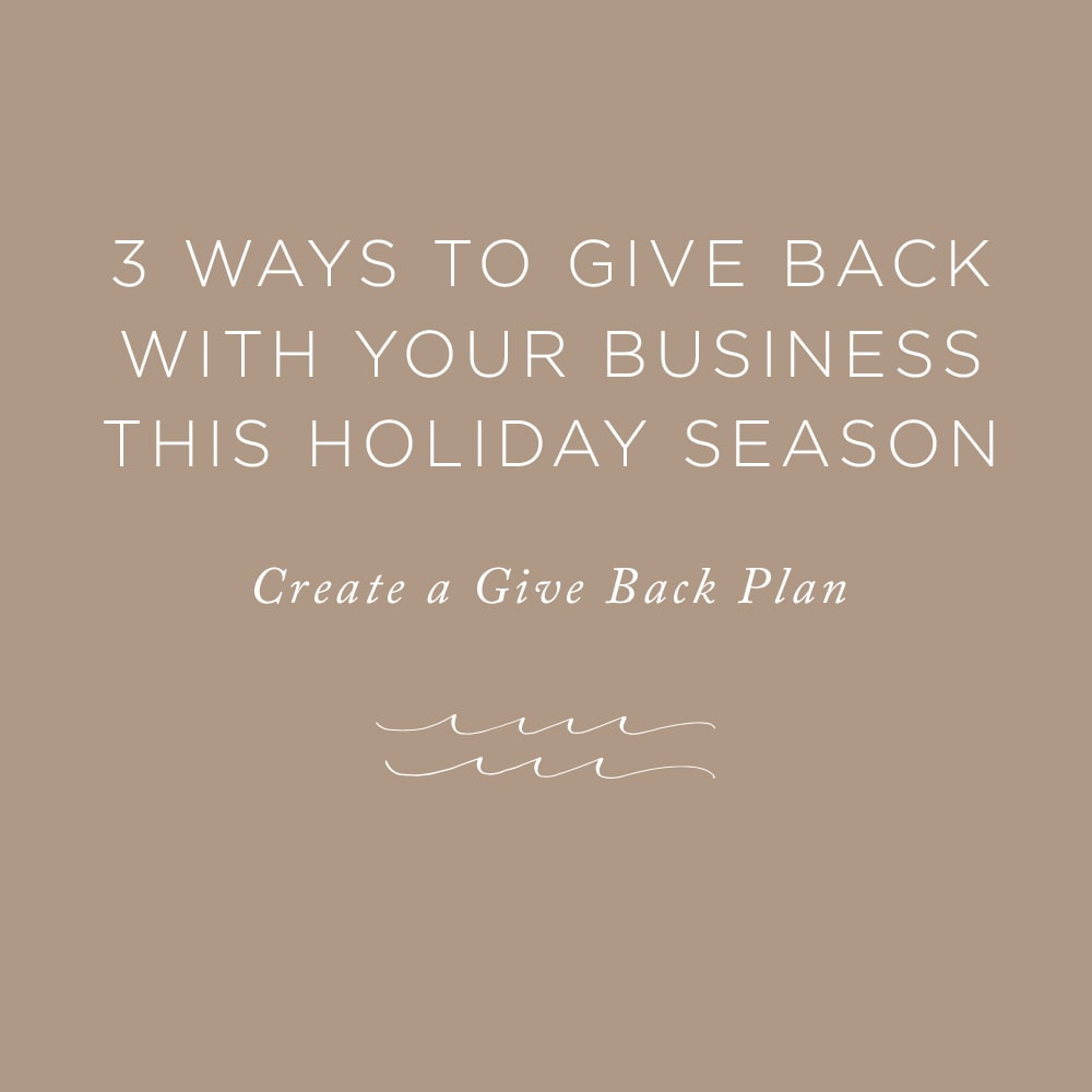 3 Ways to Give Back with your Business this Holiday Season | via the Rising Tide Society