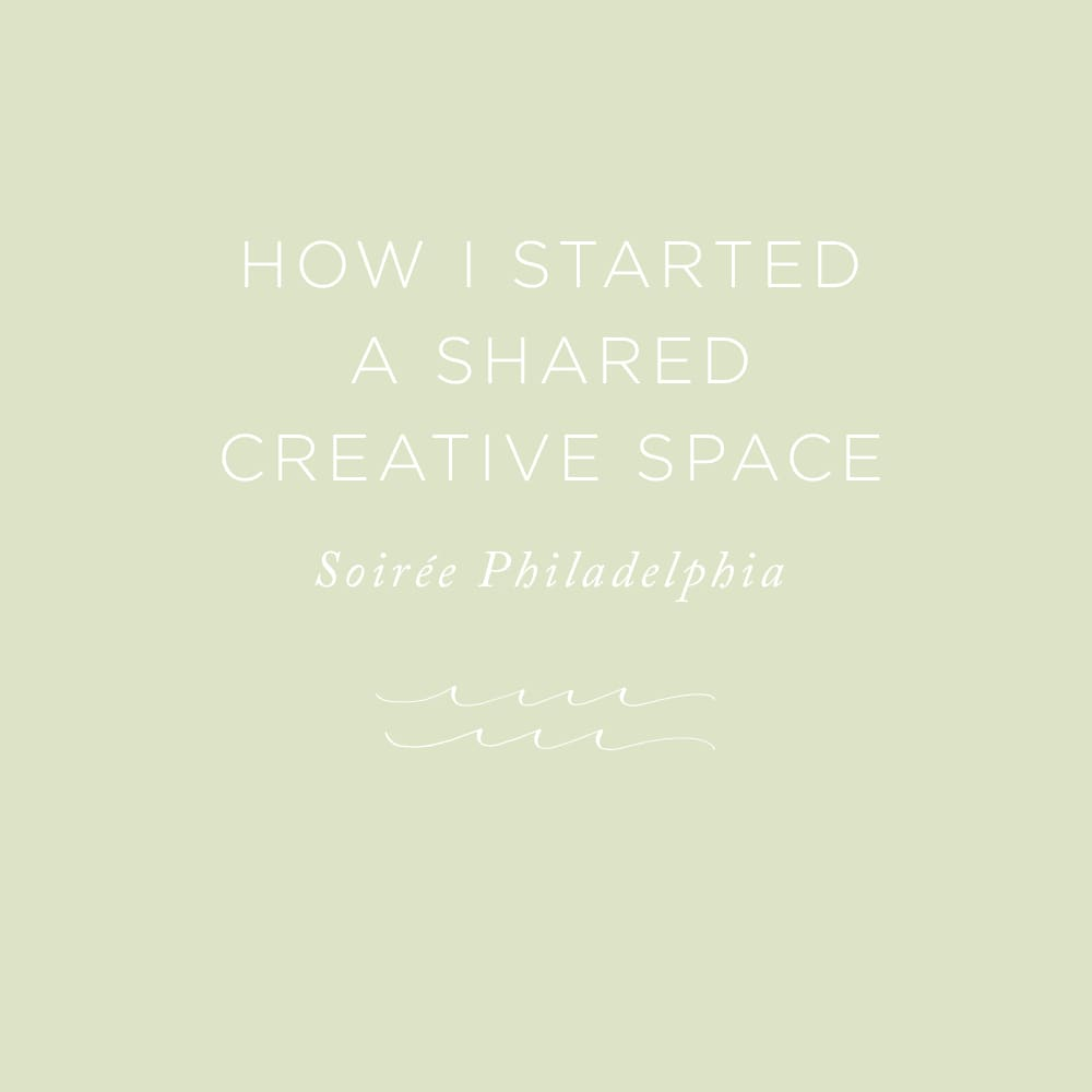 How I Started a Shared Creative Space   via the Rising Tide Society