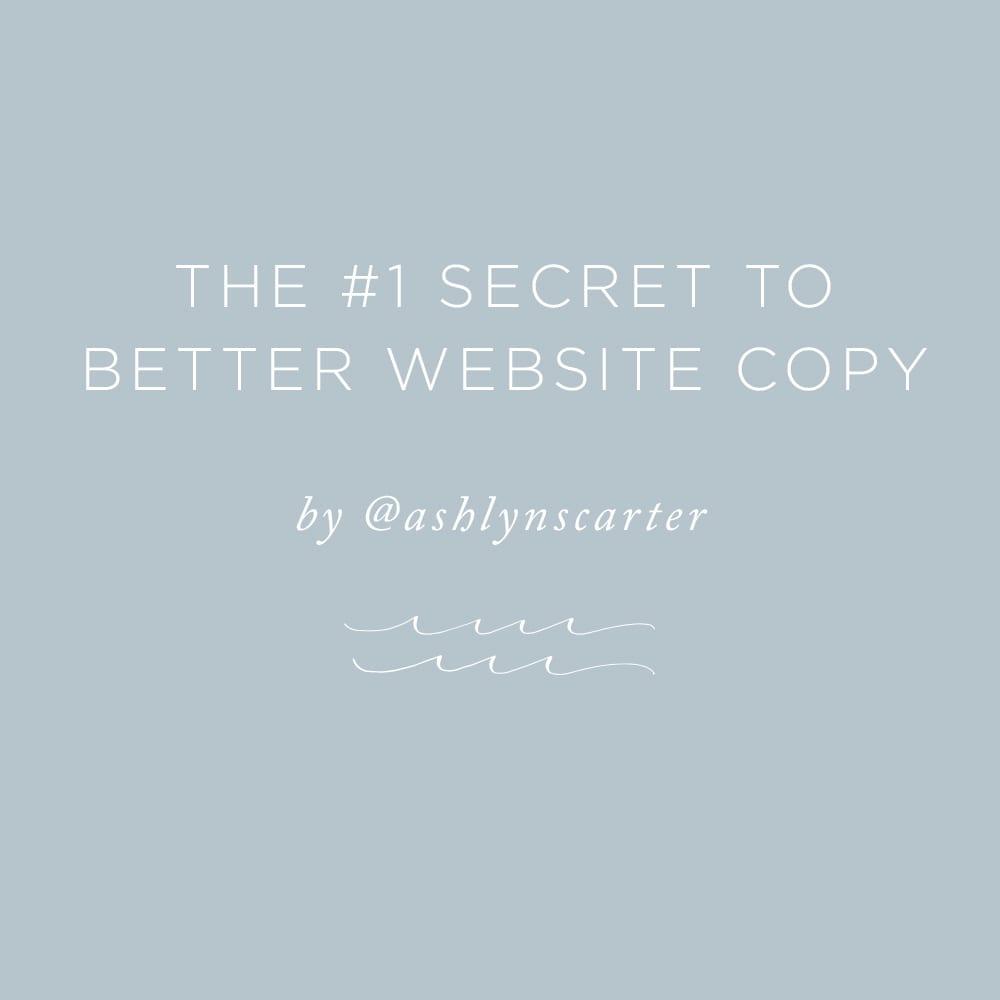 The #1 Secret to Better Website Copy | via the Rising Tide Society