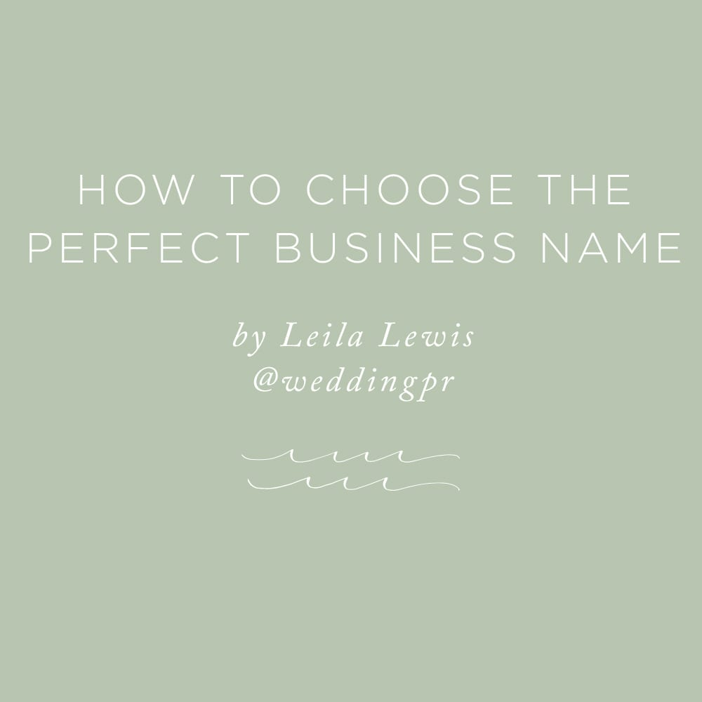 How to Choose the Perfect Business Name | via the Rising Tide Society