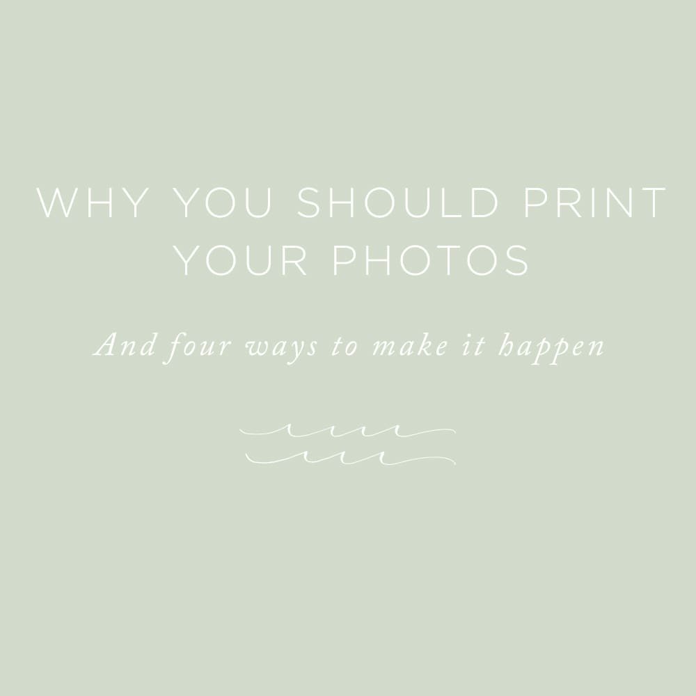 Why You Should Print Your Photos   via the Rising Tide Society