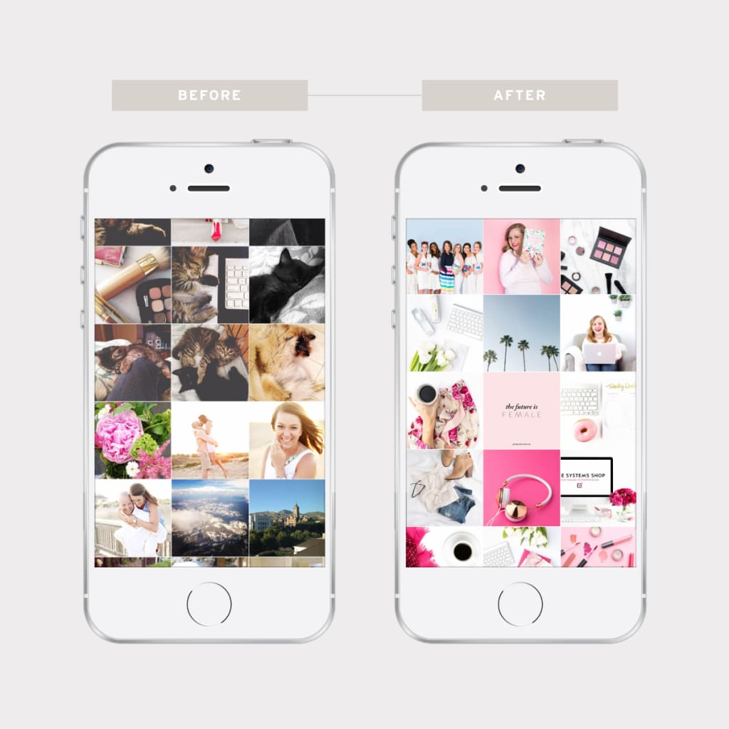 How to achieve Visual Balance on your Instagram feed By Alternating Tightly Cropped Photos With Those With More White Space