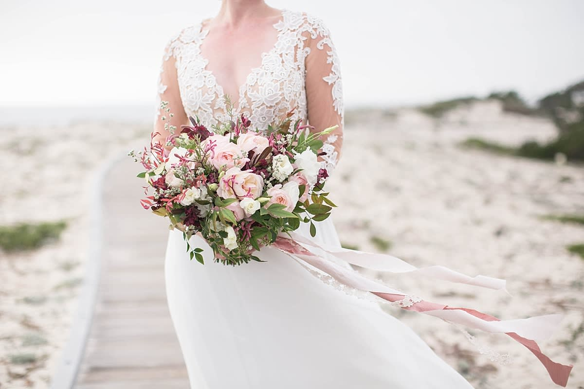 Elegant and Beachy Styled Shoot by the Rising Tide Society Monterey, California, Chapter