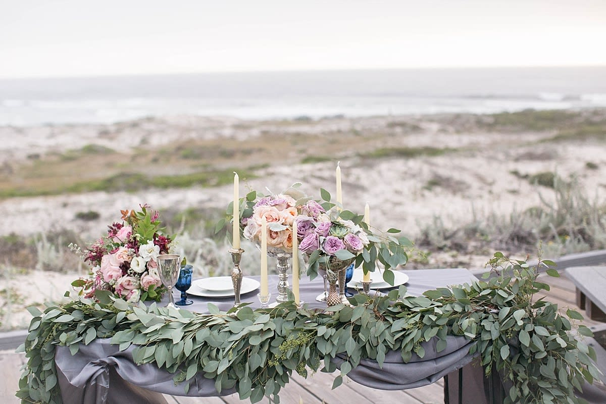 Elegant and Beachy Styled Shoot by the Rising Tide Society Monterey, California, Chapter. Beachy Tablescape